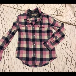 Tailor Vintage /// Flannel Button-down! Girls 8